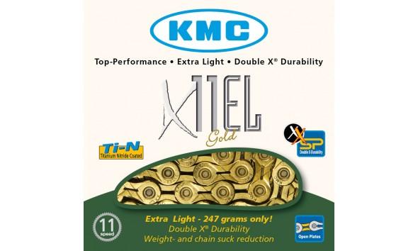 Цепь KMC X 11 EL gold