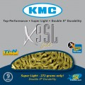 Цепь KMC X9SL gold