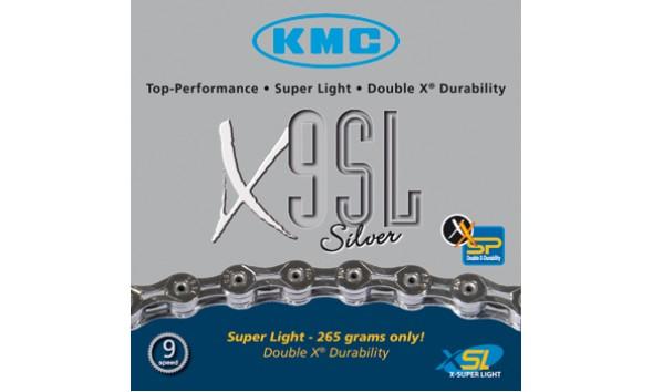 Цепь KMC X 9 SL silver