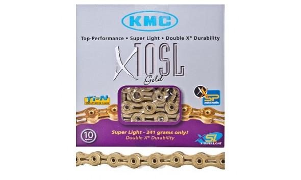 Цепь KMC X 10 SL gold