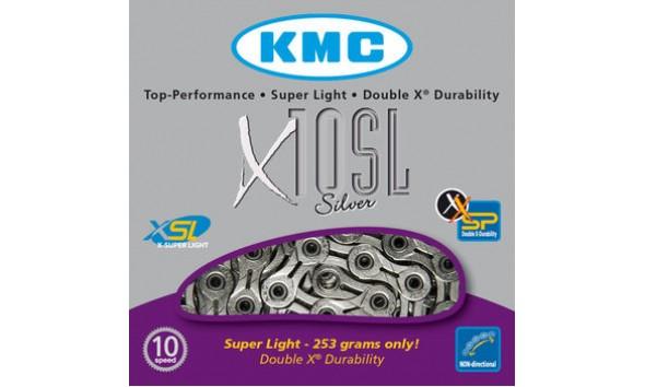 Цепь KMC X 10 SL silver
