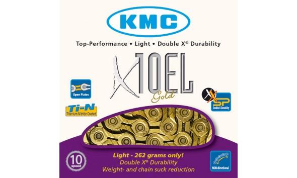 Цепь KMC X 10 EL gold