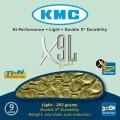 Цепь KMC X9L gold