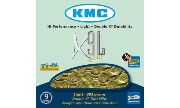 Цепь KMC X 9 L gold
